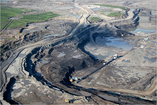 Open Pit Mining Canada an Open-pit Mine For Oil Sands