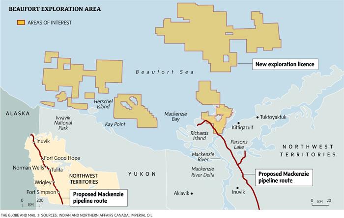 Beaufort Sea exploration sites