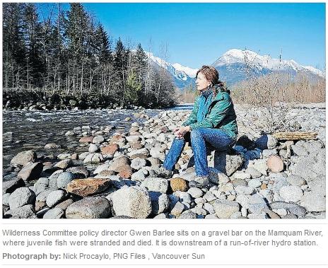 Gwen Barlee on the Mamquam River