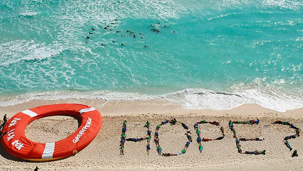 Greenpeace rallies for hope in Cancun