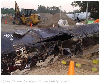 Blown oil pipeline