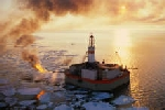 Oil rig in the Beaufort Sea