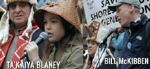 Ta'Kaiya Blaney and Bill McKibben