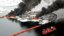 Oil spill in northern waters